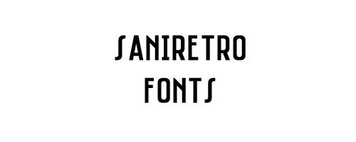 Saniretro Free Font
