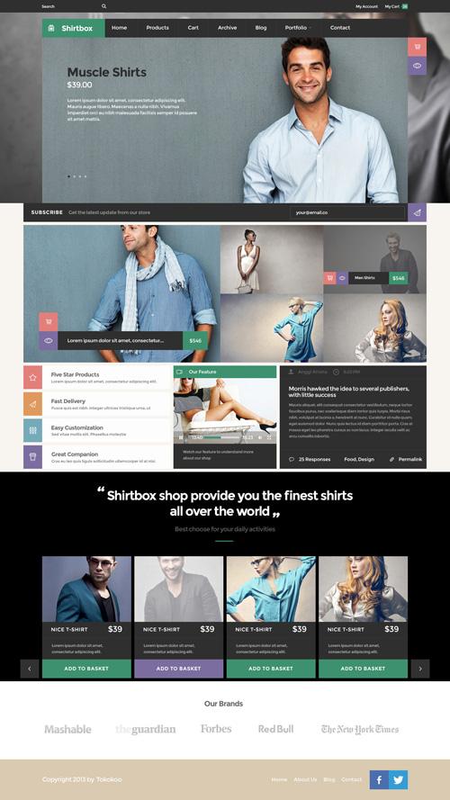 Shirtbox - Flat Woocommerce Multi-Purpose Theme