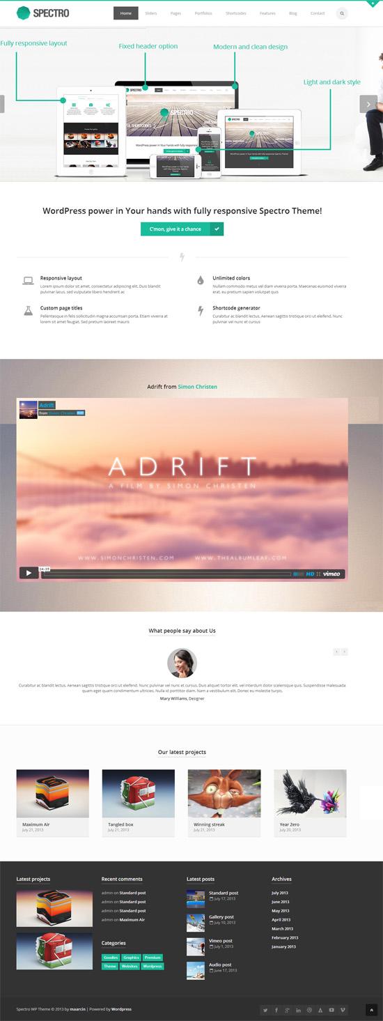Spectro – Responsive Multi-Purpose Theme