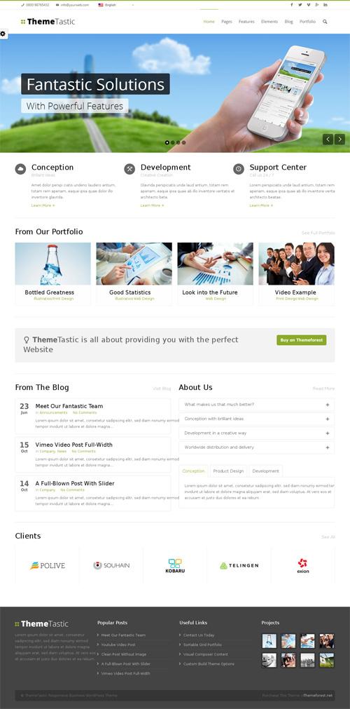 ThemeTastic: Flat Responsive WordPress Theme