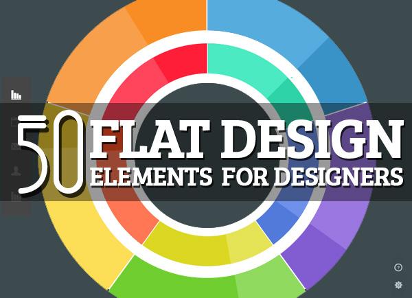 Free Flat Design PSD Elements
