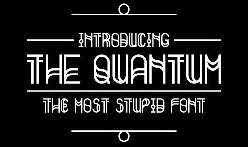 The Quantum free fonts