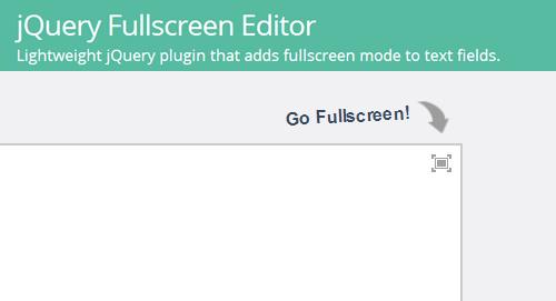 jQuery Fullscreen Editor: Transforms Textfields into Customizable Editor