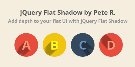 jQuery Flat Shadow - Create Long Shadows Flat UI