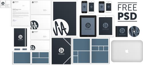 Corporate Identity Mockup Free PSD File