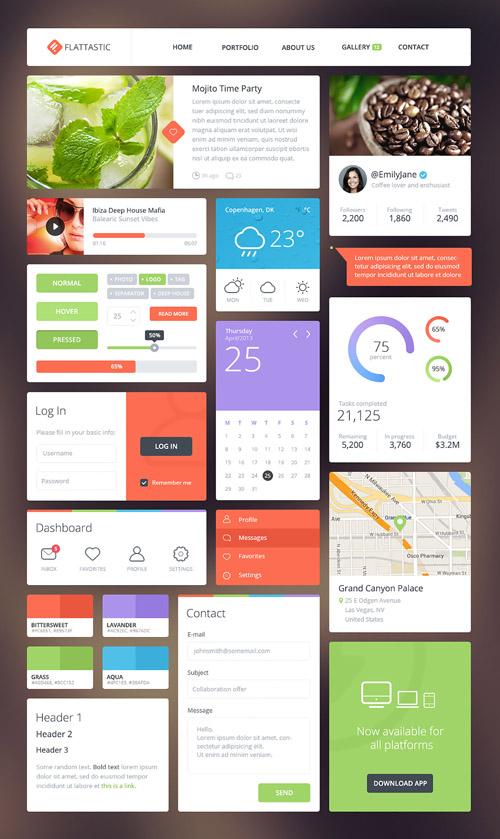 Flattastic UI kit