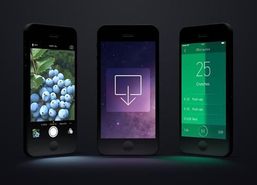 Free Black iPhone Templates Free PSD File