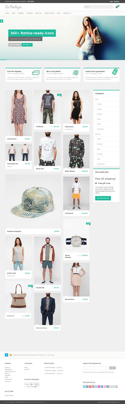 La Boutique - Responsive eCommerce Template