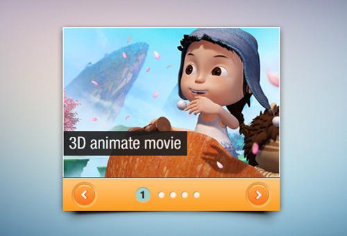 Mini Slider Interface Free PSD File