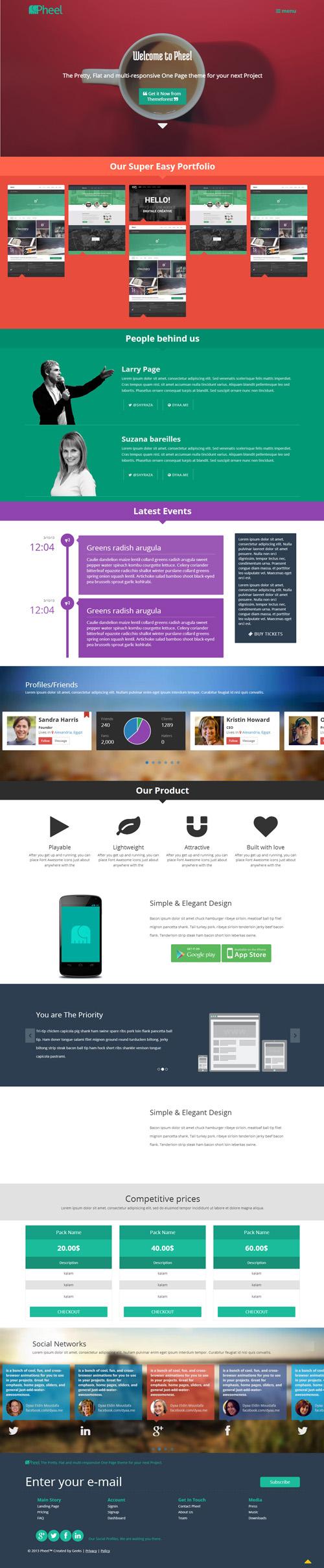 Pheel - Responsive Multi Purpose Bootstrap 3 Theme