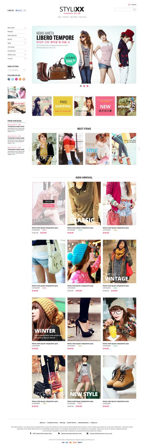 Responsive Magento Theme - Stylixx Asian Fashion