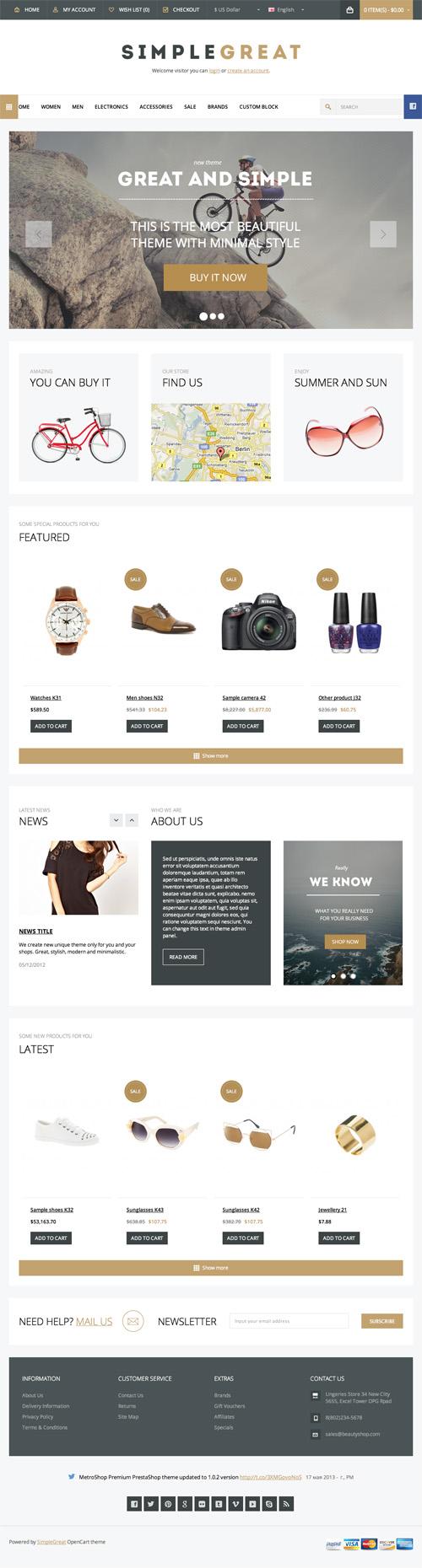 SimpleGreat – Premium Responsive Magento theme