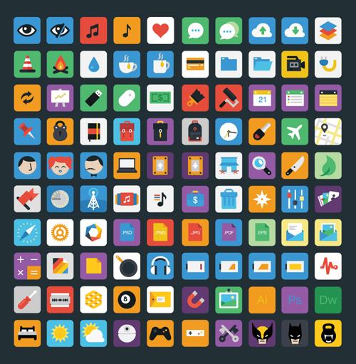 Stylicons - Free Flat Icon Set Free PSD File