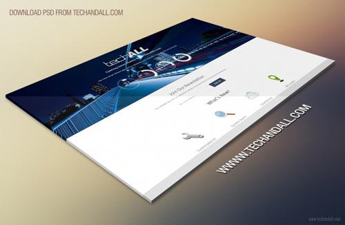 Website Prospective Showcase Mockup Free PSD File