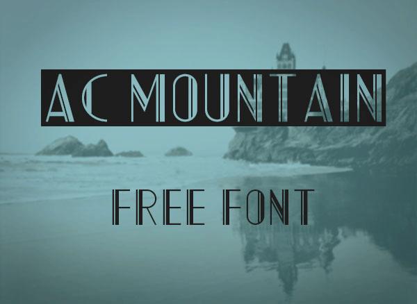 AC Mountain Font
