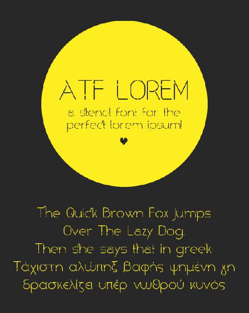 ATF Lorem Font