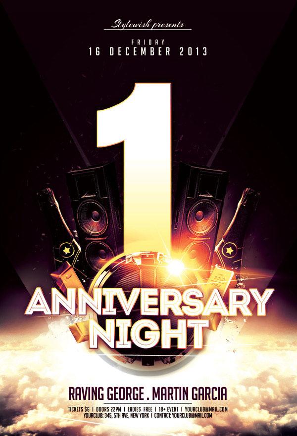 Anniversary Night Flyer
