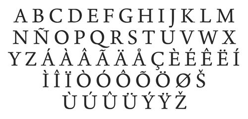 Born Typeface Fonts Letters