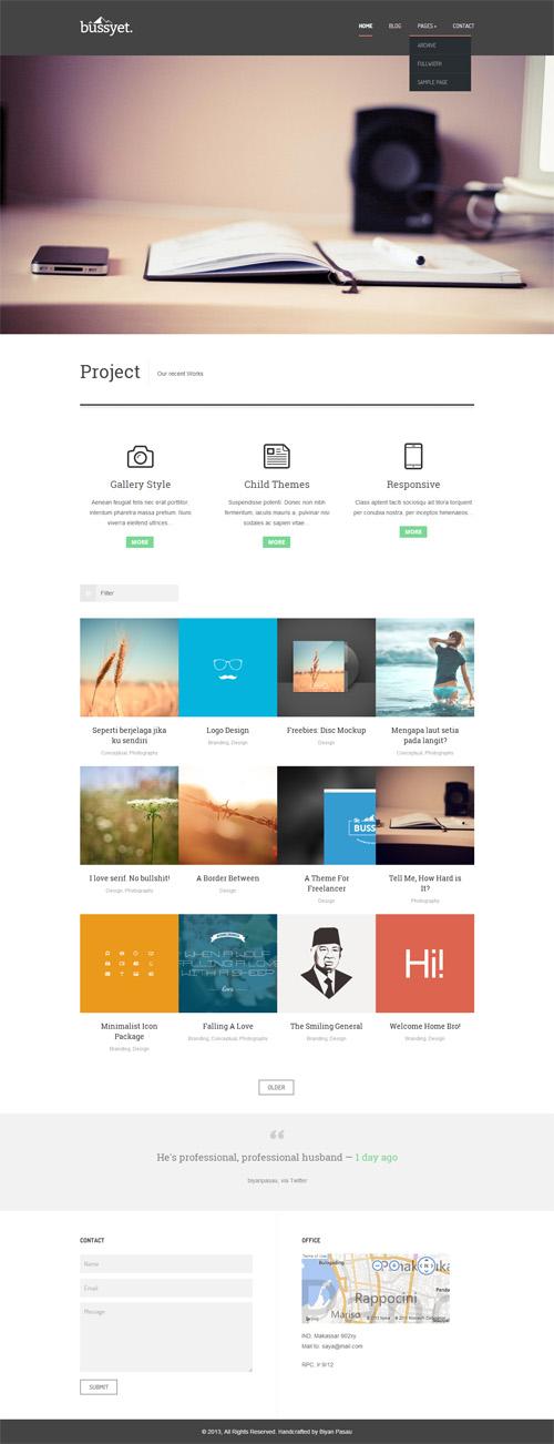 Bussyet - Responsive Portfolio WordPress Theme