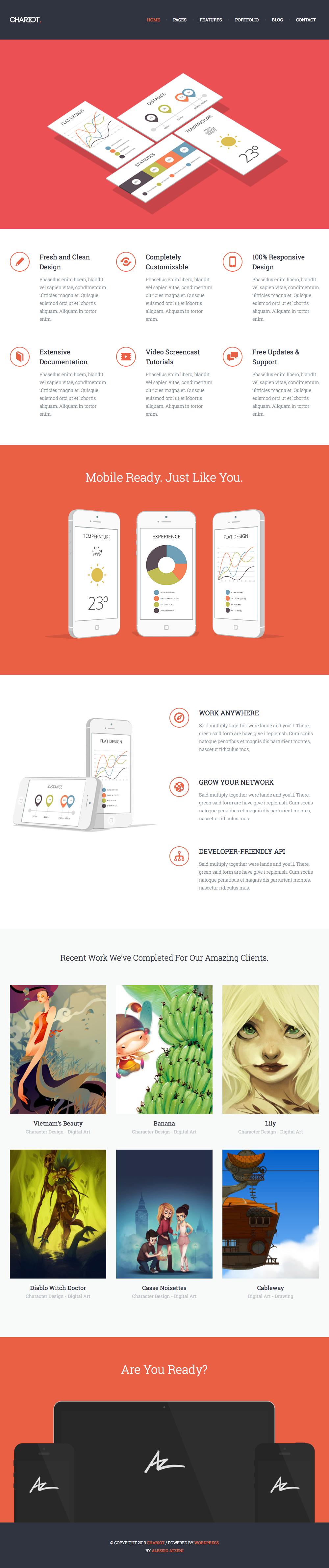Chariot - Professional Responsive WordPress Theme