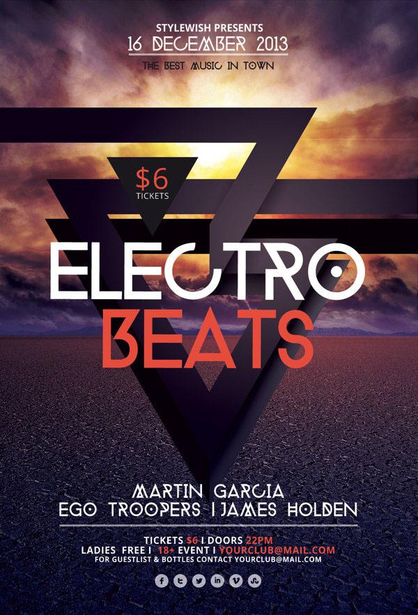Electro Beats Flyer