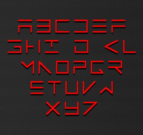 ElectroMan Fonts Letters