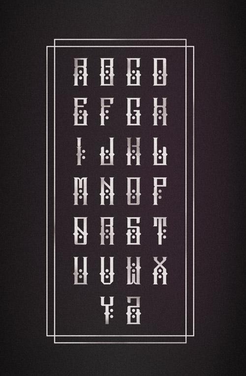 Escobar Fonts Letters