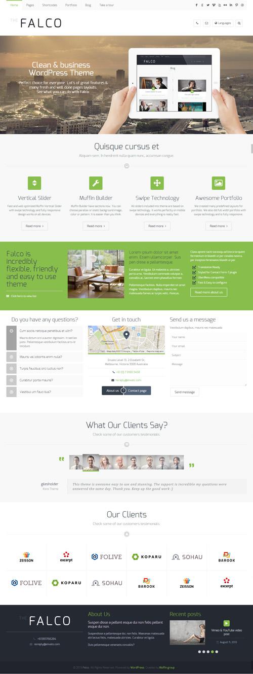 Falco - Responsive Multi-Purpose WordPress Theme
