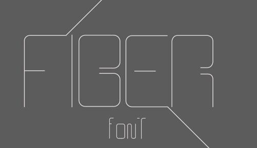 Fiber typefont
