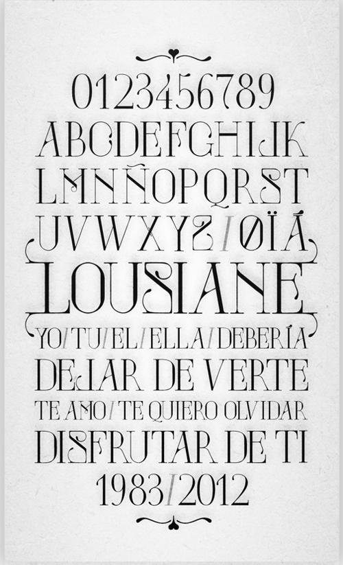 Lousiane Font Typography