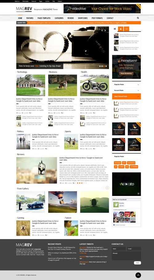 Magrev: Magazine & News WordPress Theme