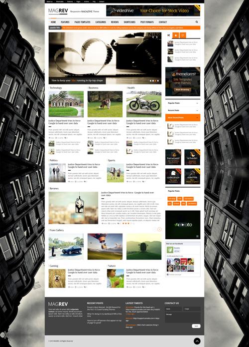 Magrev - Magazine and News WordPress Theme