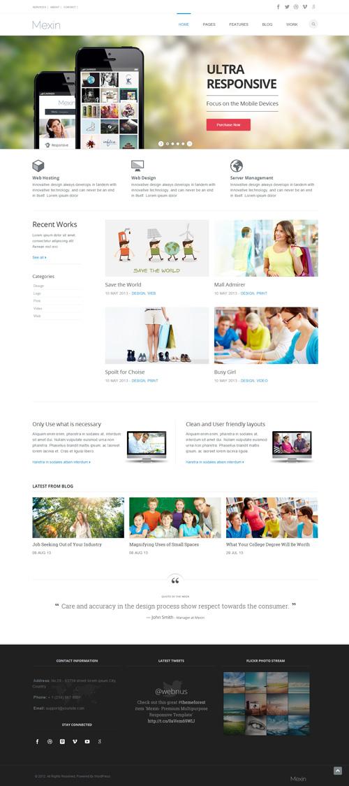 Mexin - Premium Multipurpose Responsive Theme
