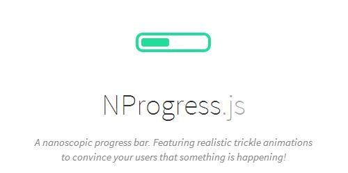NProgress.js: Slim Nanoscopic Progress Bar