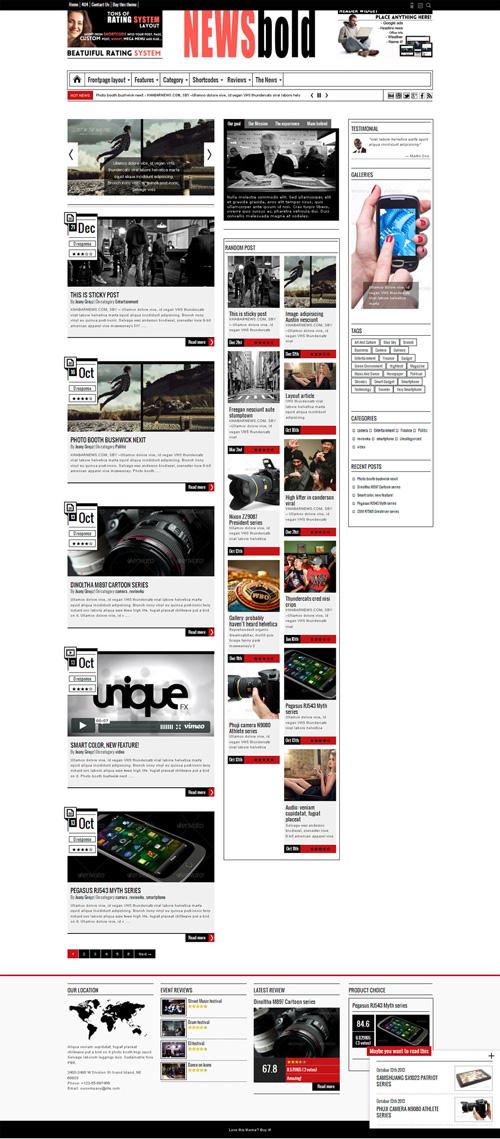 Newsbold - Bootstrap Multipurpose MagNewsBlog