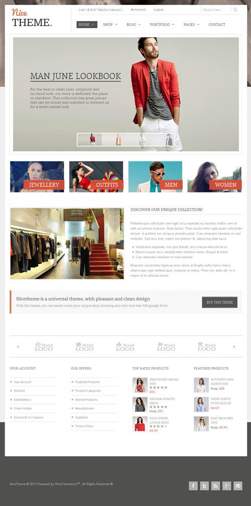 NiceTheme - Clean WordPress and Woocommerce Theme