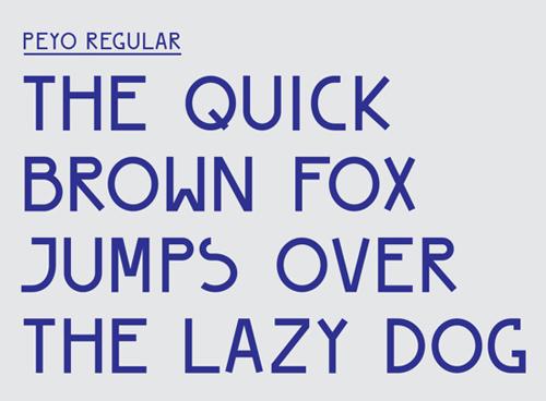 PEYO Regular - Free Font Typography