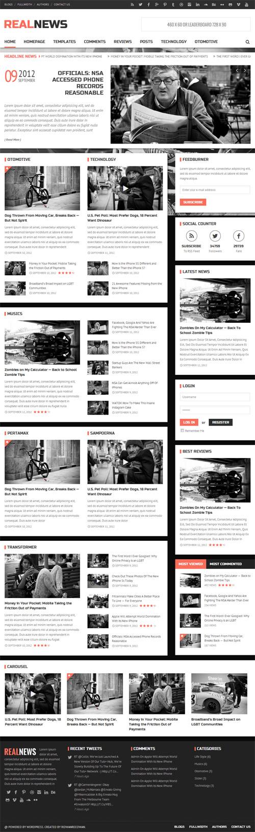 Realnews - Stylish and Responsive Magazine Theme