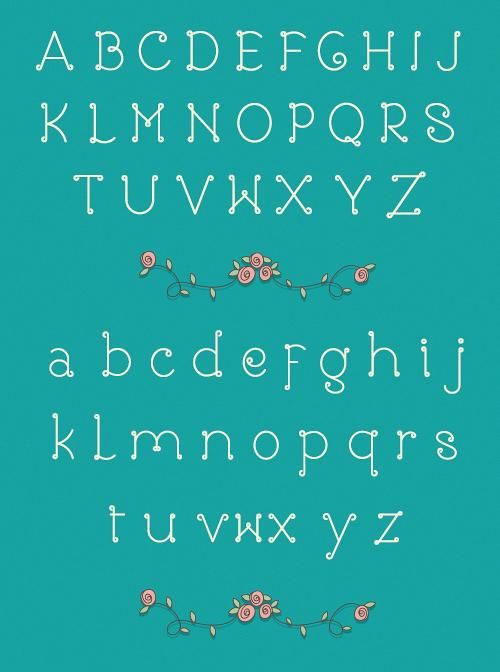 Rose Free Font Typography