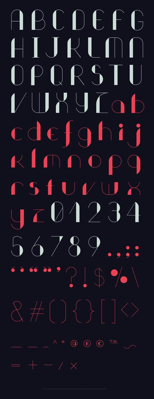 Rounda Fonts Letters