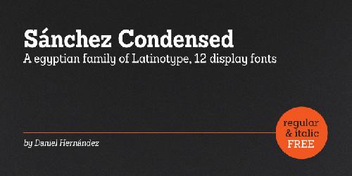 Sanchez Condensed Font