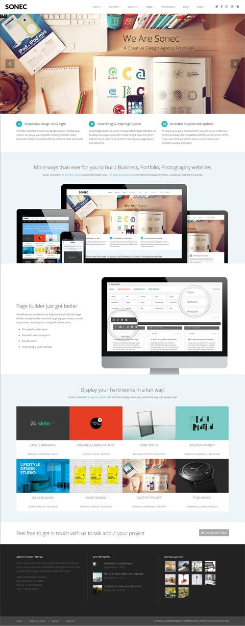 Sonec - Business, Portfolio and Photography Theme