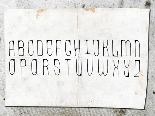WIKINGG Font Letters