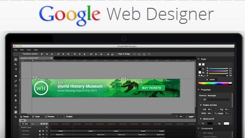 Google Web Designer: Interactive HTML5 Tool For Building Sites & Ads