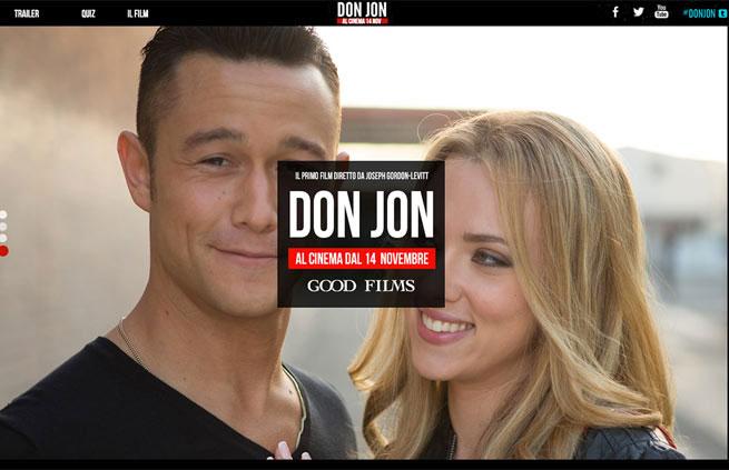 Don Jon official italian website