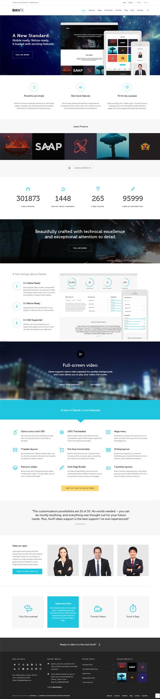 Dante - Responsive Multi-Purpose WordPress Theme