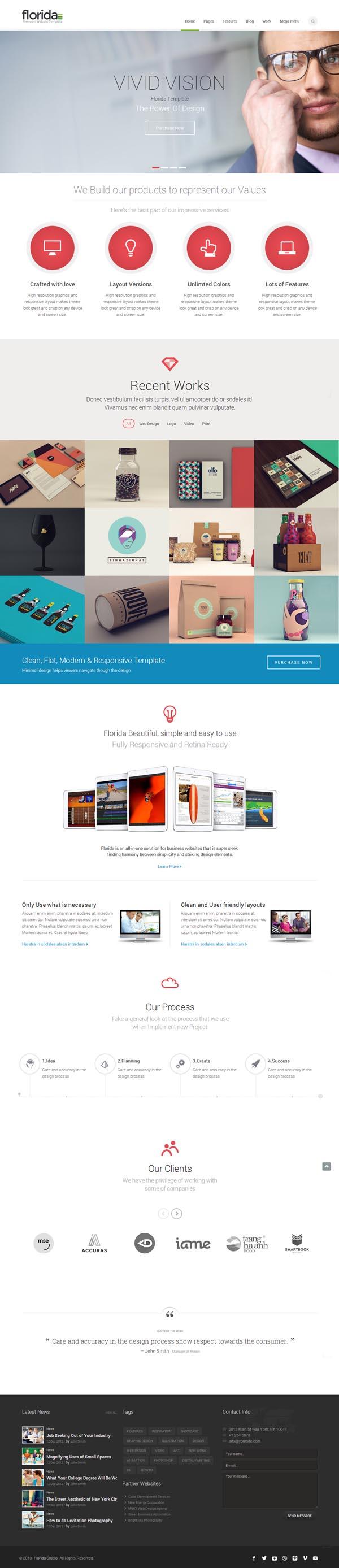 Florida - Premium Multipurpose Responsive Template
