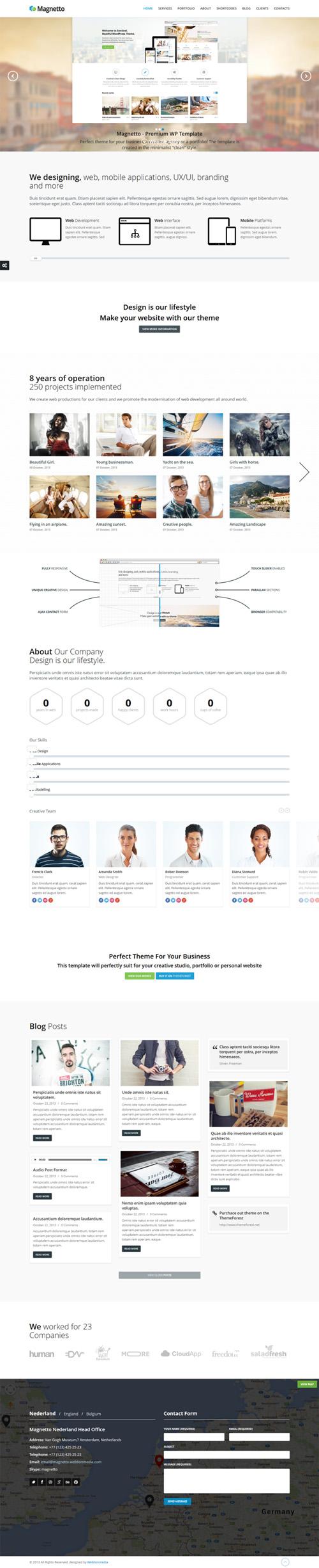 Magnetto - Onepage Parallax WordPress Theme