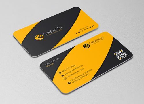 Minimalist Textured Business card