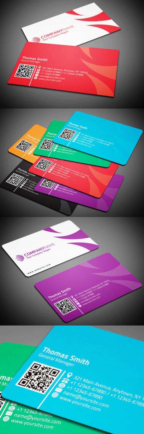 Multicolor Corporate Business Card